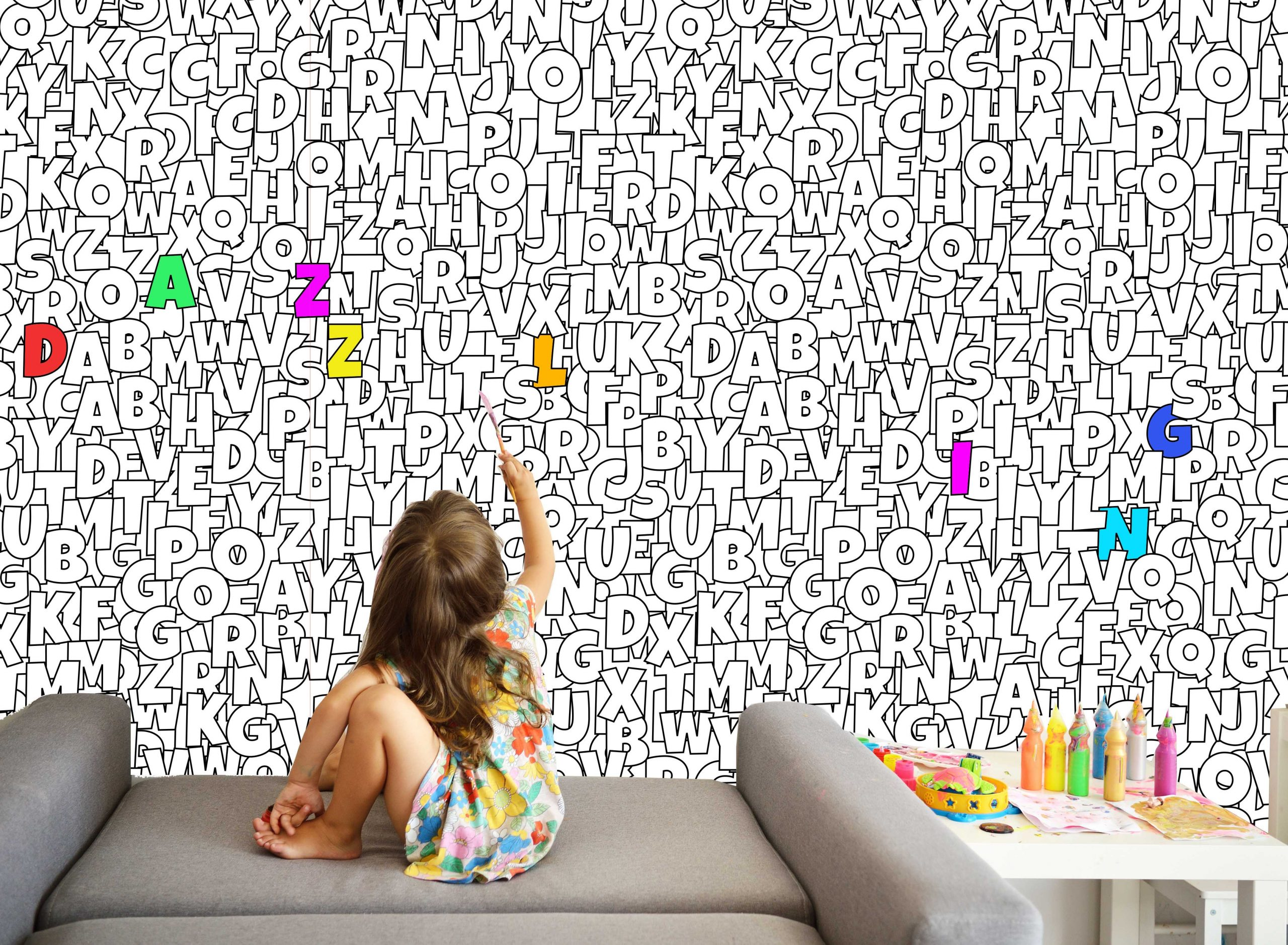 Colour In Fabric Wallpaper - Dazzling Decals and Designs